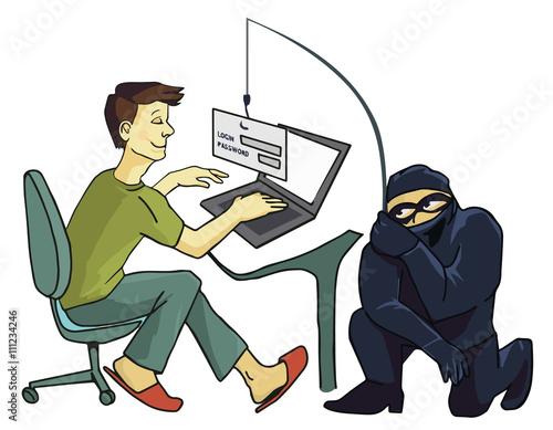Fotografía  Computer Crime concept
