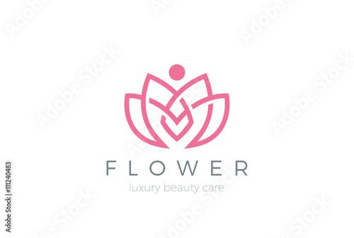 Fotografía  Lotus Flower Logo abstract Beauty Spa salon Cosmetics