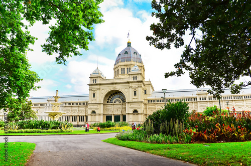 View of the Royal Exhibition Building in Melbourne, Australia.