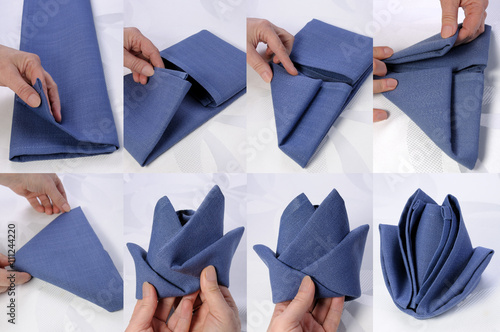Fotografie, Obraz  How to fold a napkin