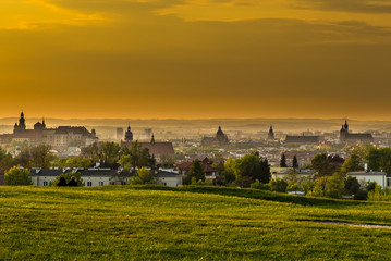 Obraz na PlexiPanoramic view of Cracow from Krakus mood