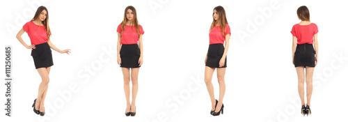 Fotografía  Full length portrait of beautiful teen in skirt