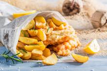 Closeup Of Delicious Fish Cod ...