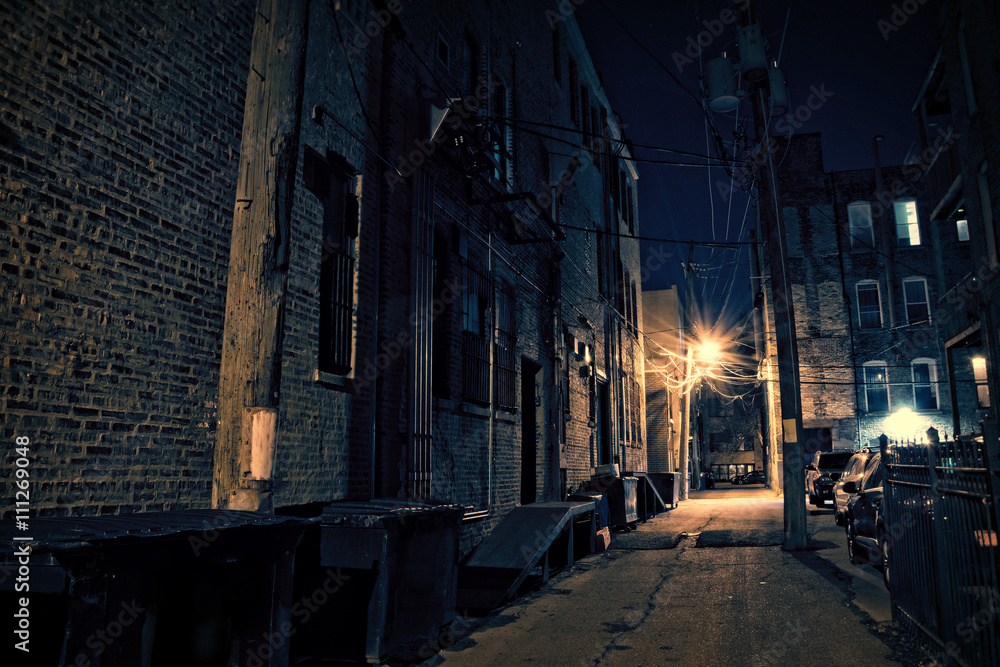 Fototapeta Dark City Alley