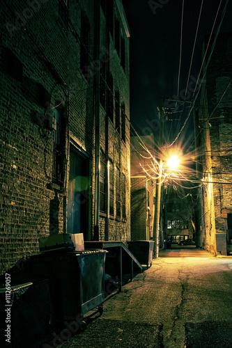 Foto op Plexiglas Chicago Dark City Alley