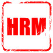hrm, red rubber stamp with grunge edges