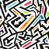 Fototapeta Młodzieżowe - graffiti seamless pattern