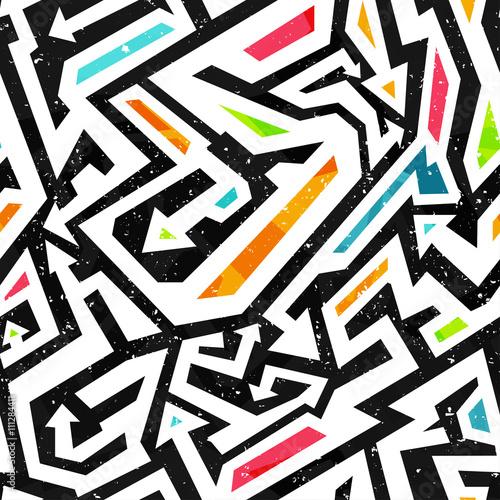 Plakat wzór graffiti