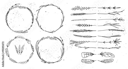 Photo  Hand drawn vector illustration. Vintage decorative collection. T