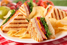 Summer Picnic Club Sandwich Ha...