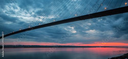 Poster Bridges Pont de Normandie de nuit