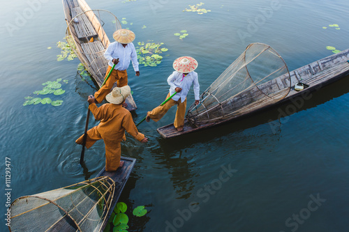 Canvas Print Fisherman inle