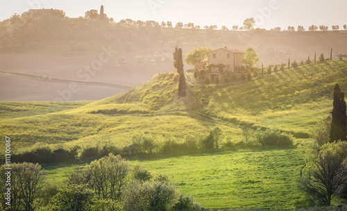 Recess Fitting Green blue Tuscany landscape, Italy
