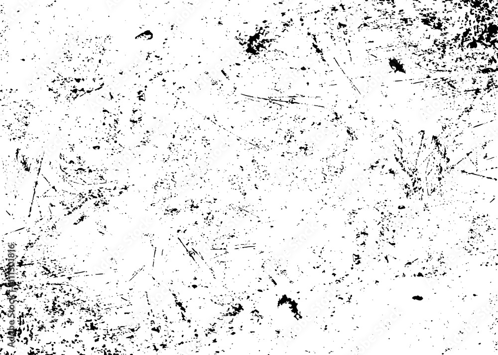 Fototapeta Grunge texture white and black. Sketch abstract to Create Distressed Effect. Overlay Distress grain monochrome design. Stylish modern background for different print products. Vector illustration