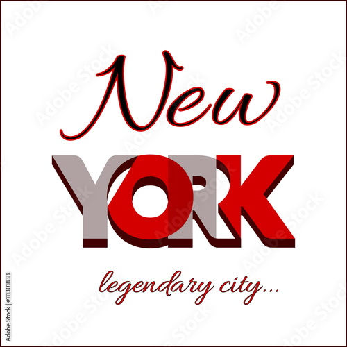 New York City Typography Graphic Fashion Stylish Printing Design For T Shirt And Sports Wear Nyc Logo Label Usa T Shirt Design For Apparel Card Poster Etc Symbol Of Freedom Vector Illustration