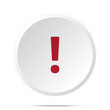 Red Exclamation Mark icon on white web button