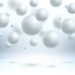 Abstract white spheres background vector illustration.