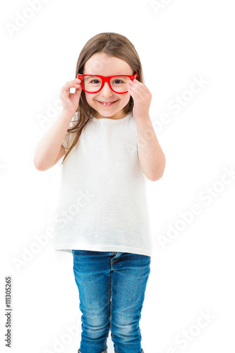 Glasses And Small Girl Casual Trendy Hipster Child Clothes For