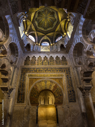 Poster Monument Mihrab of the Mosque Cathedral of Cordoba
