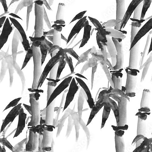 Tapety do sypialni wzor-bambusa