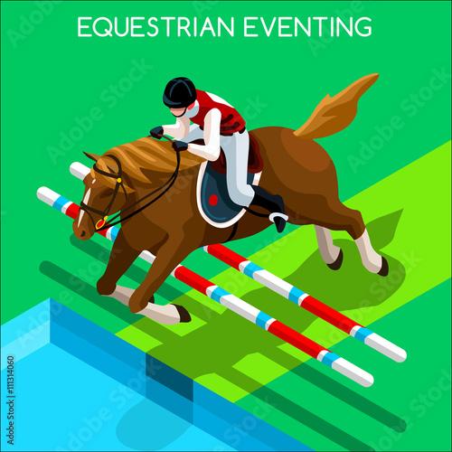 Fotografía  Equestrian Eventing Summer Games Icon Set