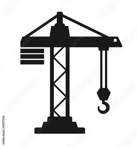 Photo crane building icon