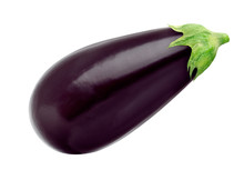 Eggplant Isolated On White Bac...