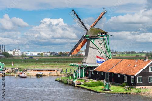 Photo  Dutch wind mills