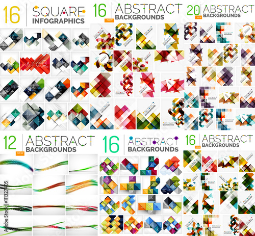Mega collection of geometric abstract backgrounds Wall mural