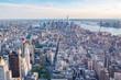 New York, Manhattan zur goldenen Stunde