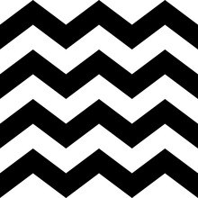 Zig Zag Lines Seamless Pattern. Black And White Vintage Texture. Abstract Geometric Modern Design. Fashion Graphic. Decorative Background For Wallpaper, Textile, Paper, Wrapping. Vector Illustration.