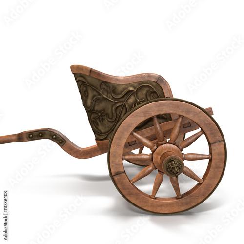 Roman Chariot Racing on White 3D Illustration Canvas Print