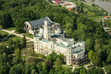 Aerial View Of The Castle Hlub...