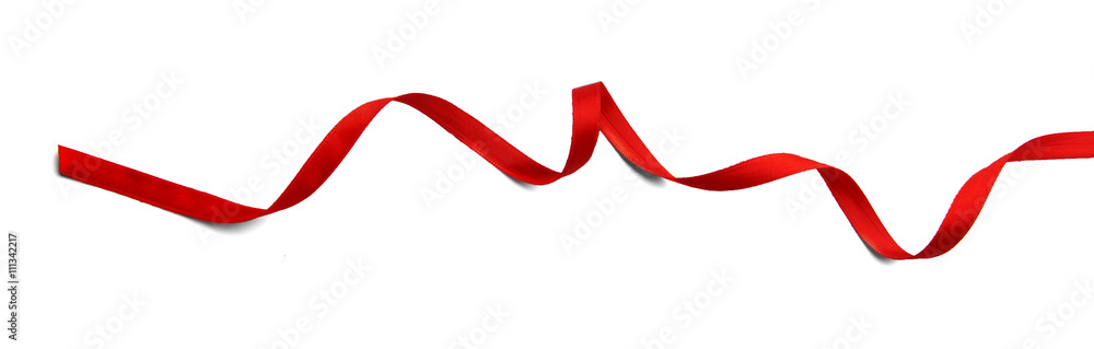 Fototapety, obrazy: Red ribbon isolated on white