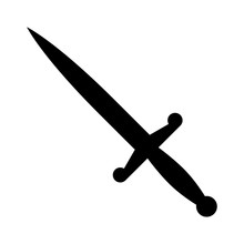 Dagger Or Short Knife For Stabbing Flat Icon For Games And Websites