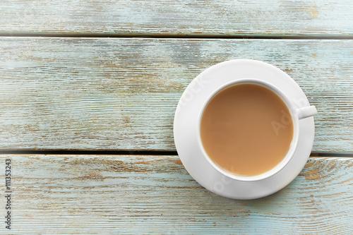 Milk tea on white rustic background  - Buy this stock photo