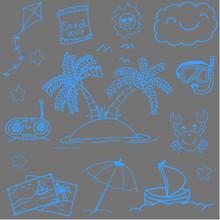 Summer Illustrations Doodle