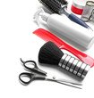 Professional hairdressing equipment isolated on white