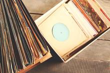 Box With Vinyl Records