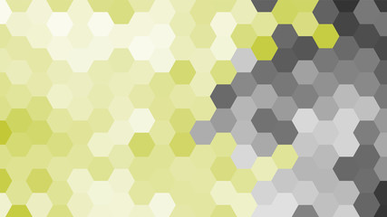 FototapetaPastel grey and yellow geometric hexagon pattern without contour. Ocean style. Polygonal shape.