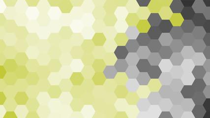 Panel Szklany Podświetlane Do przedpokoju Pastel grey and yellow geometric hexagon pattern without contour. Ocean style. Polygonal shape.