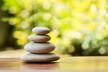 Pile Of Balancing Pebble Stone...