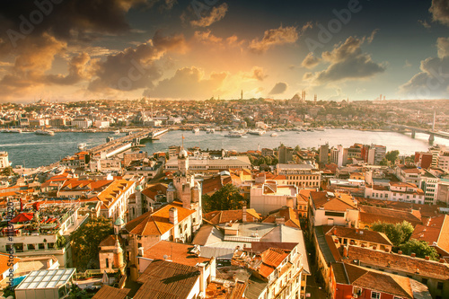 La pose en embrasure Turquie Beautiful cityscape. View of Istanbul at sunset