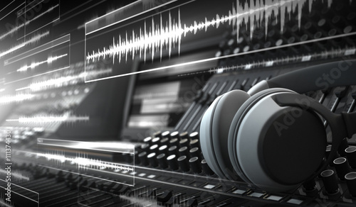 Sound Studio and Audio Tracks Canvas-taulu