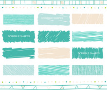 Vector Set Of Scribble Elements