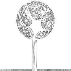 FototapetaBlack tree