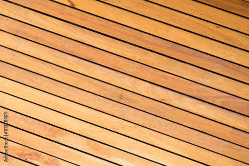 Fotografia  Outdoor wooden deck