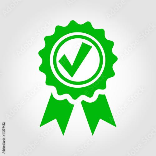Fotografía Vector green approved certificate icon