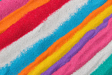 Background Of Colored Sand Closeup