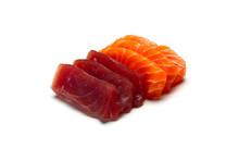 Raw Sashimi Isolated On White ...